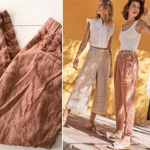 Anthropologie || Hei Hei Francoise Linen Pants S